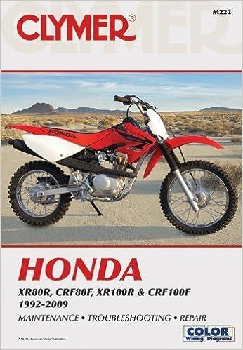 honda xr80r, crf80f, xr100r & crf100f 1992-2009 (clymer color wiring  diagrams) by penton staff (2010-02-01) paperback – 1773