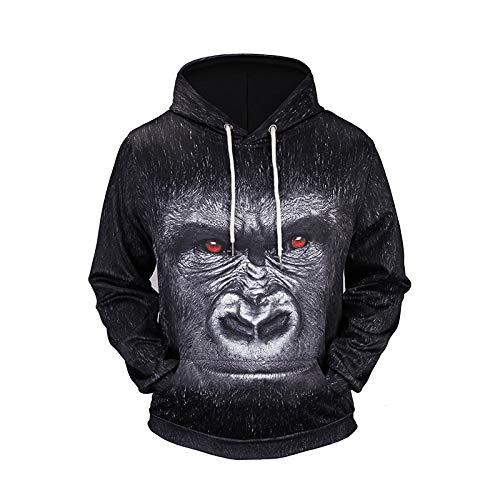 Digitale Maglione Con fby Stampa 3d Xxxl Orangutan hop 3d Hip Allentato Unisex In A700 Tcly Felpa Nera Cappuccio RAxqv6v