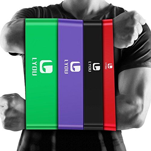 LYOU Resistance Bands Pull Up Assist Bands Exercise Powerlifting Bands for Body Stretching, Resistance Training