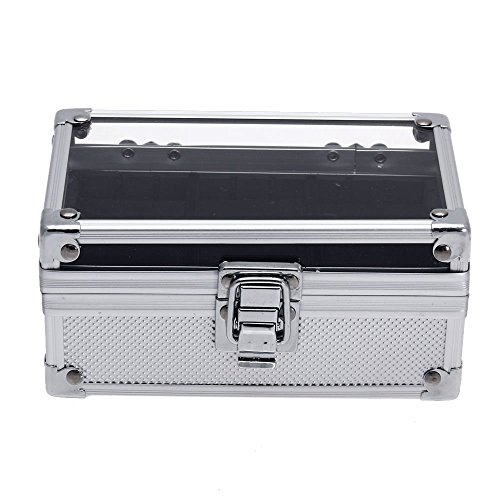 Generic YH-US3-160519-438 8yh3521yh e Acrylic Top Watch Storage Box how Display Aluminum Alloy Aluminum Show Display st Watch 3 Grids Wrist oy 3 Grid Case Acrylic Top