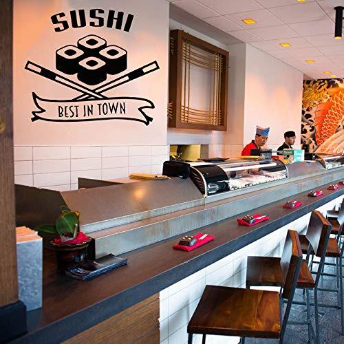 Food Wall Decals Posters Décor - Sushi Japanese Asian Cuisine Art Décor Vinyl Stickers Pictures - Bar Restaurant Café Shop Kitchen Decorations FO091