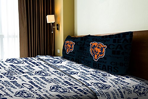 The Northwest Company Chicago Bears OFFICIAL NFL Twin Sheet Set – Anthem Series by The Northwest Company