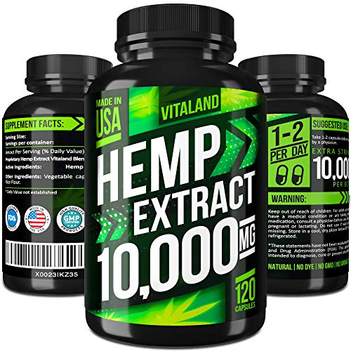 Zinc Bio Capsules 100 - Hemp Oil Capsules 10000MG - 83.3 MG per Capsule - Made in USA - Efficient Pain, Stress & Anxiety Relief - 100% Premium Hemp Oil - Anti Inflammatory - Sleep & Mood Support - Ideal Omega 3, 6, 9 Source