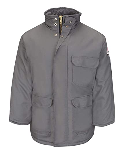 c0d864d6b278 Bulwark FR Men s JLP8 EXCEL FR ComforTouch Flame Resistant Insulated Deluxe  Parka (Small