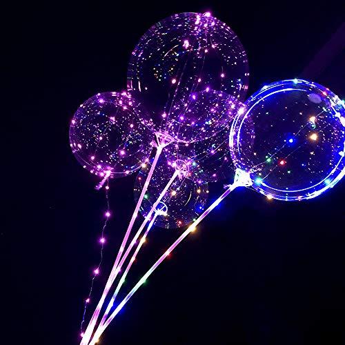 LOKODO Decor Balloon 20inch Luminous Led Balloon Transparent Round Bubble Decoration Party Wedding