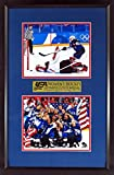 USA Women's Hockey 2018 Olympic Gold Medal 8x10 Stack Display (Feat. Shoot-Out Winner & Celebration) Framed