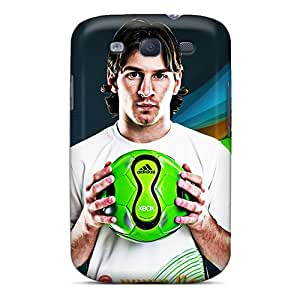 PhilHolmes Samsung Galaxy S3 High Quality Hard Phone Cover Customized Beautiful Messi Series [Cxl17188zTeL]