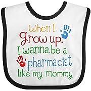 Inktastic - Pharmacist like Mommy Baby Bib White/Black