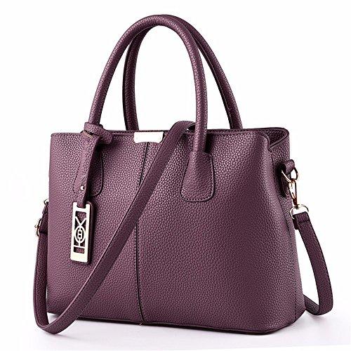 Asas Mujeres de Crossbody Bag la Asas Las de La de CCZUIML G1 de Bolso Bolsa de Bolsa púrpura del dFgaqd8nO6
