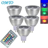 Best Bulb Lights With IR Remotes - OMTO MR16 3W RGB Color Changing Spotlight Review