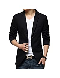 Fashion Mens Stylish Slim Fit 2 Buttons Casual Blazer Jacket