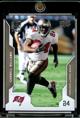 2008 Upper Deck Draft Edition # 193 Carnell Williams - Buccaneers - NFL Football Card in Protective Screw Down Display Case