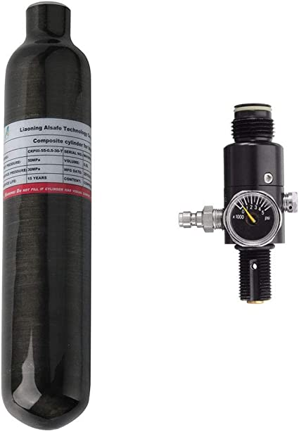Air Rifle 0.5L 30Mpa Paintball Tank Carbon Fiber Air Cylinder PCP Bottle Black