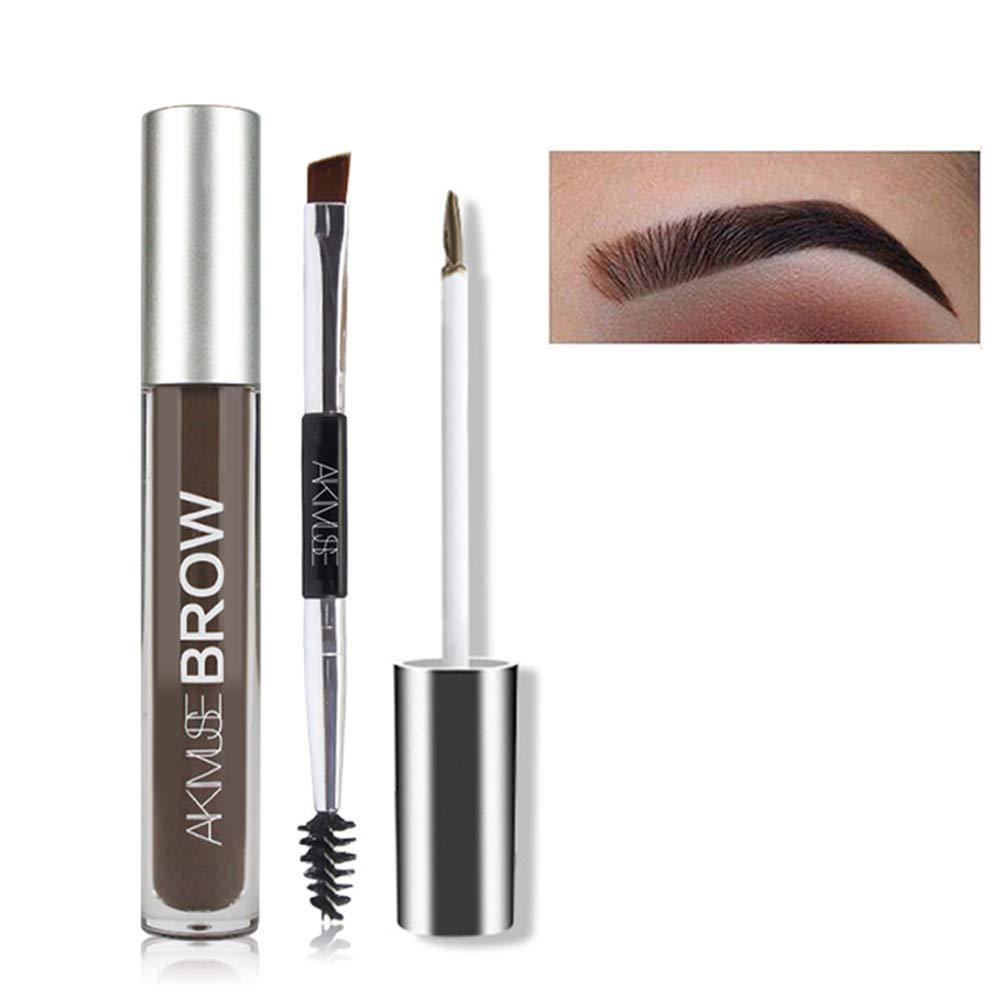 FOXCESD Eyebrow Gel Waterproof, 24 Hours Long Lasting for Eyebrow Makeup (Black/Brown)