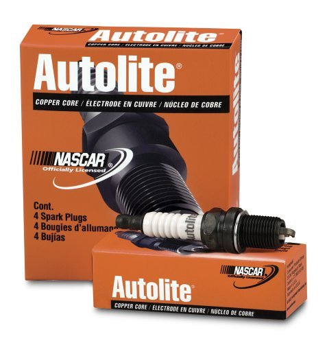 Autolite 664 Copper Core Flat Pack Spark Plug , Pack of 4