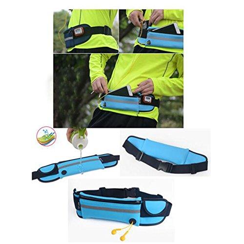 Radfahren Laufen Pouch Sporttaschen im Freien wasserdichte Handtasche-Hellblau P3Hwcxcv