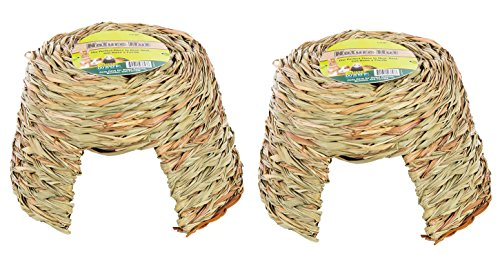 (2 Pack) Ware Nature Willow and Grass Pet Hut, Size Large (Grass Willow)