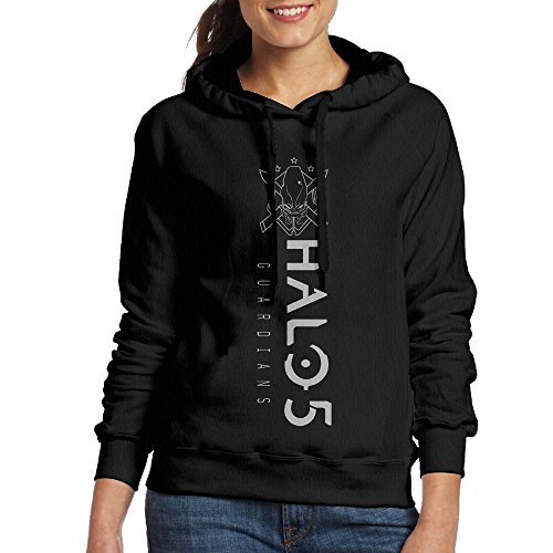 YLS Women's Ha Lo Military Science Shooter Video Game Cross-country Fashion Hoodie Sweater Size M Black