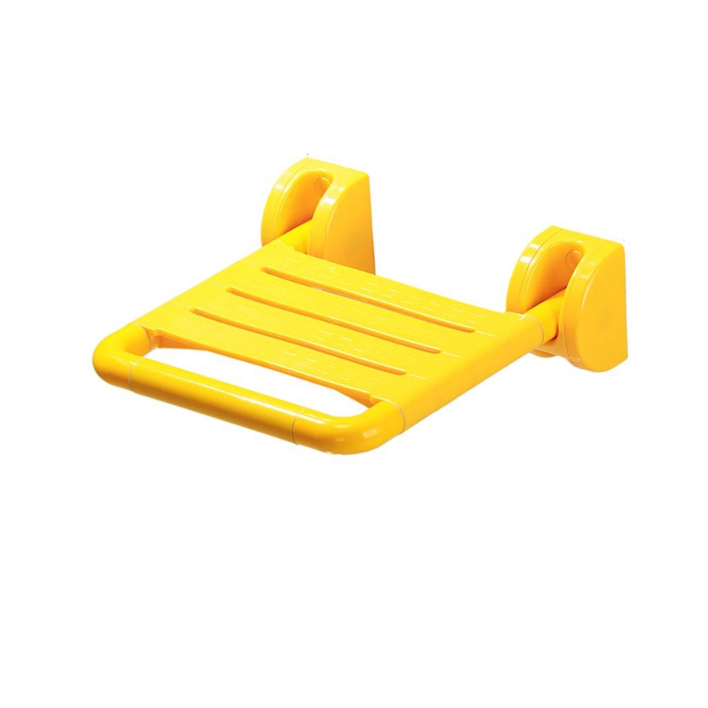 XUEPING バスルームバススツール折りたたみシャワー壁スツールウォールスツール障害シートスツール交換バスルームバスルームスツールイエロー/ホワイト (色 : B, サイズ さいず : (1)) B07D7LVBHD (1)|B B 1