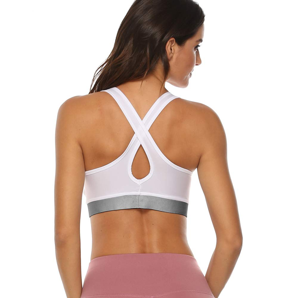 jiushixw Moda Fitness Yoga Color sólido Running Sujetador ...