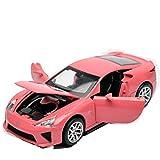KMT Alloy Diecast Car Models Lexus LFA Model Cars (Pink)