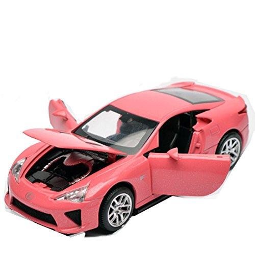 KMT Alloy Diecast Car Models Lexus LFA Model Cars (Pink) by KMT
