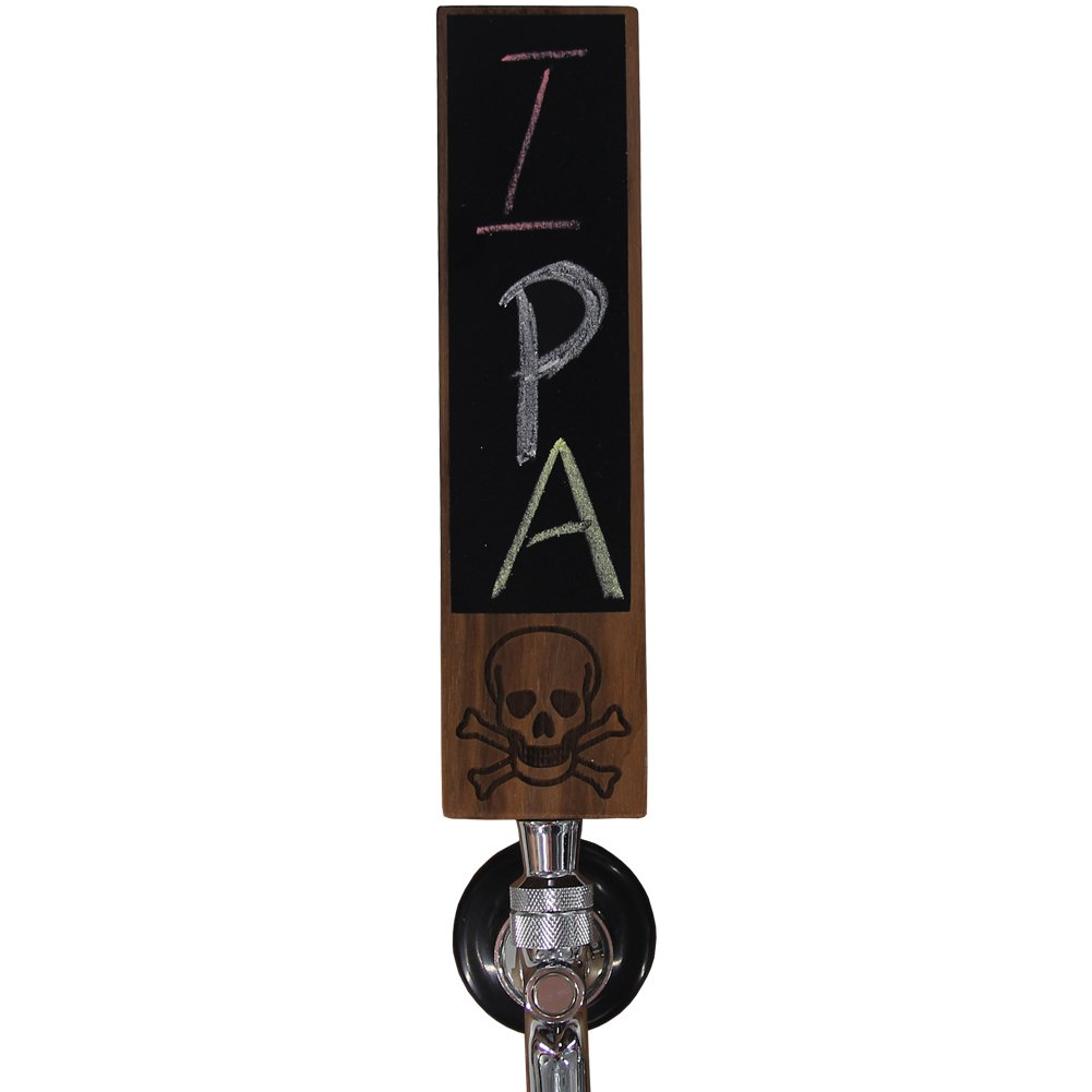 "Fanfoobi Sports Bar Beer Keg Tap Handle Kegerator, Funny Zombie Keg Handles For Bar Brewery, Wooden Beer Handle with chalkboard, 8""Length X 2""Wide Made of Natural Walnut"