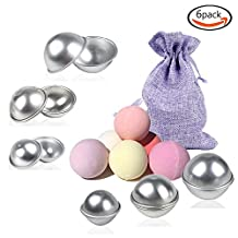 LoveS DIY Bath Bomb Mold with 3 Sizes 6 Sets 12 Pieces for Crafting Your Own Fizzles