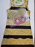 Queen Bee Halloween Costume with Felt Mask Size 6