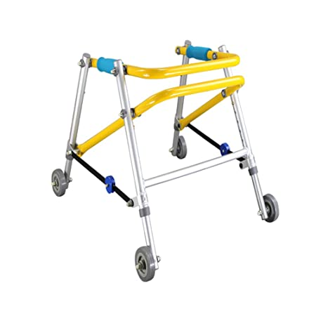 DGEMF Andador con Ruedas 4 Ruedas Andador de Aluminio ...