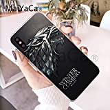 Game of Thrones iPhone X Case GoT Themed 10 Cover TV Series Medieval Fantasy Kings Queens Seven Kingdoms Iron Throne Westeros Essos Ned Stark Jon Snow Khaleesi Lannister Tully,