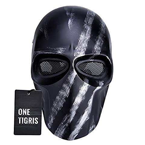 OneTigris Outdoor Game Mask Full Face Protection Multicolor Mask for Airsoft/BB Gun/ CS Game and Party