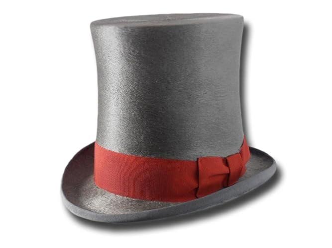 Cappello a cilindro a tuba Melousine Grigio  Amazon.it  Handmade 263353098c71