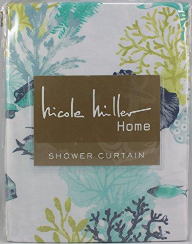 Nicole Miller Under the Sea Cotton Blend Shower Curtain - Nicole Miller Shower Curtain