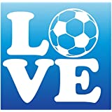 "LOVE SOCCER DECAL WITH 5""X5"""