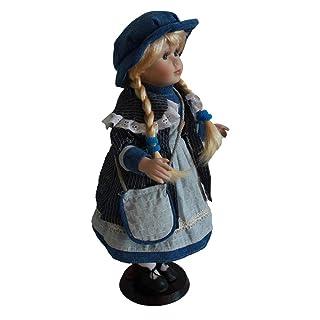 KESOTO Modello di Bambola Vittoriana in Porcellana con Vestito e Dupporto per Bambina - A