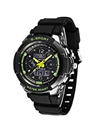 changeshopping(TM)Men LED Analog Digital Alarm Date Waterproof Sport Backlight Wrist Watch