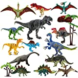 Dinosaur Toys Realistic,FUNNISM 17-pack 9' Educational Toy Dinosaur Figures with Movable Jaw,Tail & Joints,Dinosaur...