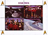 Star Trek TV show mint stamp sheet of four stamps. Stamps show different stills from TV show scenes including ship crew members and the Starship Enterprise itself – Congo / 2013 / 4 stamps