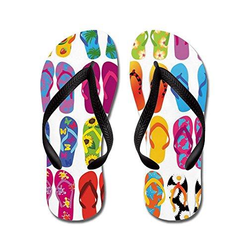 Cafepress Summer Fun - Slippers, Grappige Leren Sandalen, Strand Sandalen Zwart