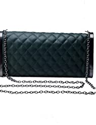 Da Wu Jia Ladies Handbag High Quality Luxury Women Elegant High-grade Plaid Evening Bag , red