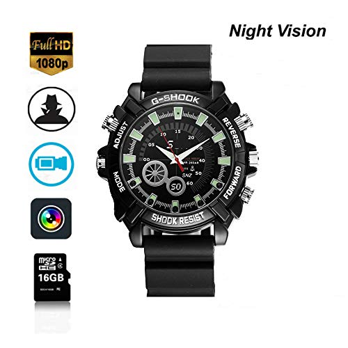 Night Vision Hidden The Camera 1080P Cameras, Multifunctional Smart 16GB Cameras ()