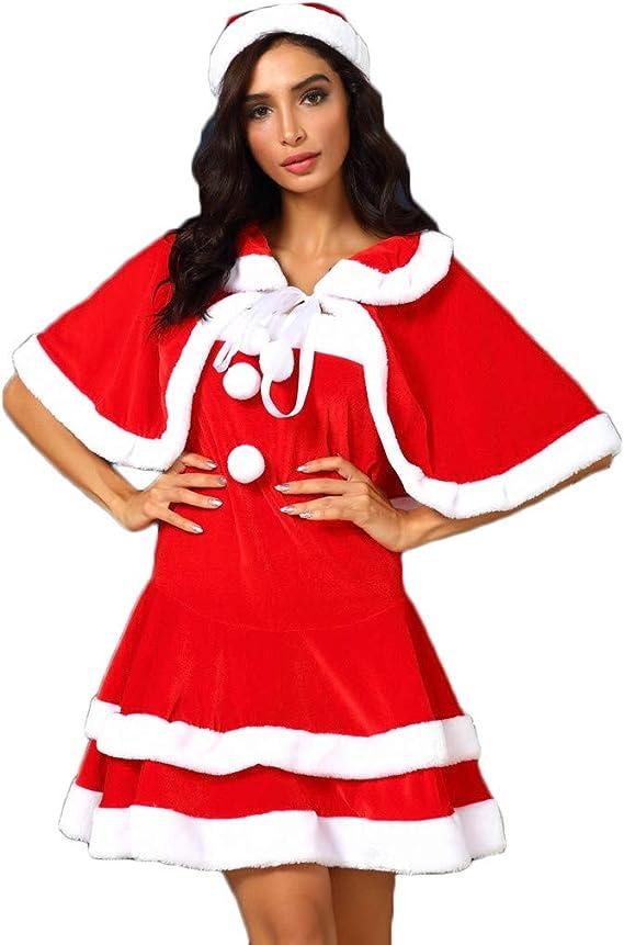 Ladies Christmas Dress Santa Snowman Reindeer Fancy Dress Outfit S-L