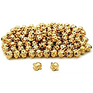 Barrel Bali Beads Gold Plated Beading 7.5mm Approx 100