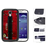 JDM Series 2-Piece Dual Layer High Impact Black Silicone Phone Case Samsung Galaxy s4 sIV I9500 (Red)