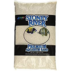 Stoney River White Aquatic Sand Freshwater and Marine Aquariums, 5-Pound Bag