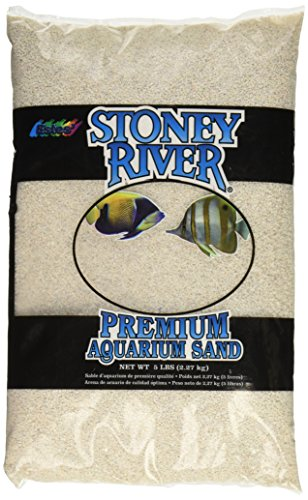 White Marine Sand (Stoney River White Aquatic Sand Freshwater and Marine Aquariums, 5-Pound Bag)