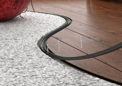 FLEXIBLE FLOORING PROFILE,Transition Strip,Floor Trim Threshold (Aged Oak)
