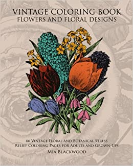 Amazon Com Vintage Coloring Book Flowers And Floral Designs 66
