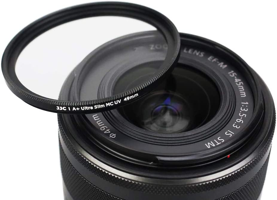 49mm UV Lens Filter with Micro Fiber Cleaning Cloth,12 Layers Ultra Slim Nano Coating UV Ultra Violet Filter for Camera Lens with 49mm Filter Thread